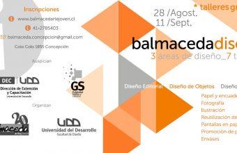 Talleres de Diseño en Balmaceda Arte Joven, Concepción