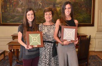 Ganadoras concurso Baldosas Córdova se reúnen con Alcaldesa de Providencia