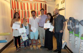 Alumnos de diseño UDD ganadores de concurso Dimacofi