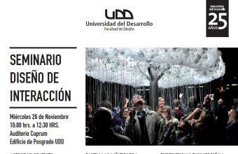 Diseño UDD te invita a un seminario en Diseño de Interacción y workshop en Programación Creativa