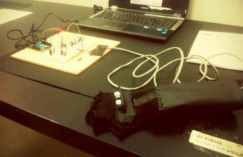 Guante sensor de entorno para ciegos