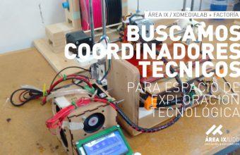 Llamado Coordinadores Técnicos para espacio de exploración tecnológica Área IX en sede Santiago