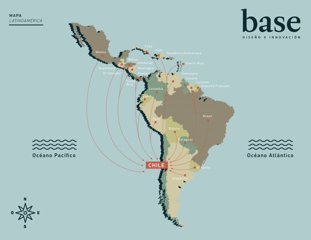 Mapa Latinoamérica Revista Base