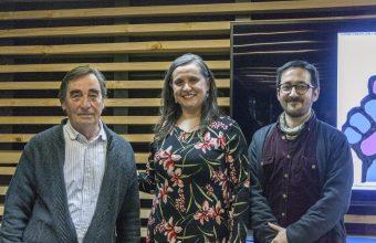 Coloquio de ilustradores en Concepción reunió a Domingo Baño con Andrés Oliva