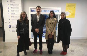 Decano de Diseño UDD visita a las autoridades de la IE University en Segovia
