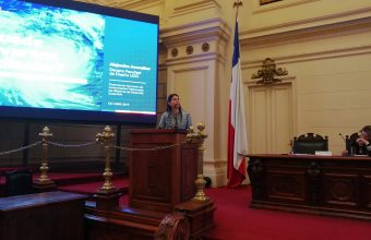 """Decano Alejandra Amenábar expuso en seminario """"Comunicación Pública para los Objetivos de Desarrollo Sostenible"""""""